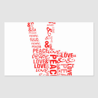 Peace Love - Give peace a chance Rectangle Sticker