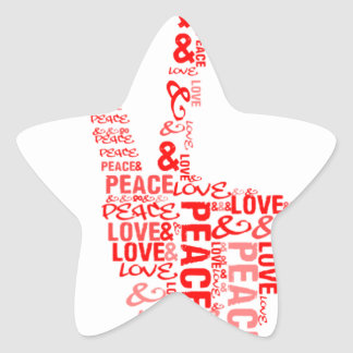 Peace Love - Give peace a chance Star Sticker