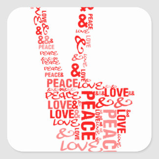 Peace Love - Give peace a chance Stickers