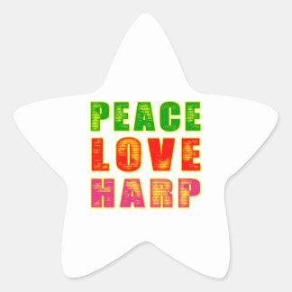 Peace Love Harp Stickers