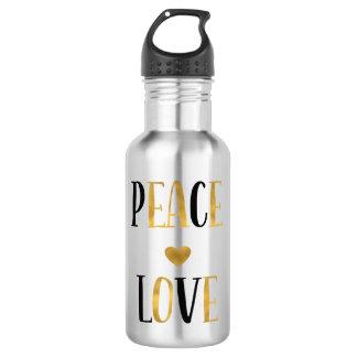 Peace Love Heart 532 Ml Water Bottle