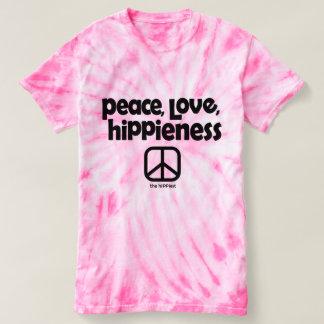 Peace, Love, Hippieness Tie Dye Tee Pink
