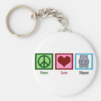 Peace Love Hippos Key Ring