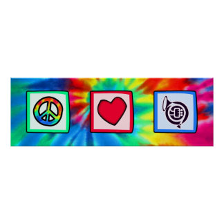 Peace Love Horns Posters