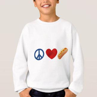 Peace Love Hotdog Sweatshirt
