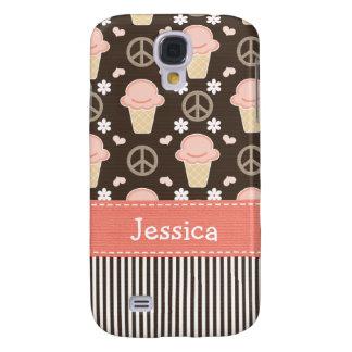Peace Love Ice Cream Cone Galaxy S4 Case