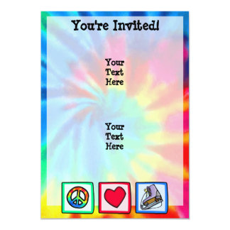 Peace, Love, Ice Skate 13 Cm X 18 Cm Invitation Card