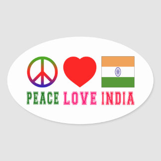 Peace Love India Sticker