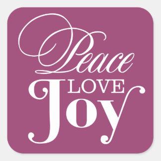 PEACE LOVE JOY   HOLIDAY ENVELOPE SEAL STICKER