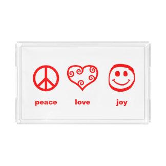 Peace Love Joy - Rectangle Tray
