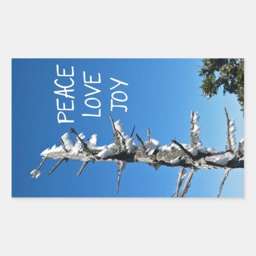Peace Love Joy - Simple Holiday Wish Stickers