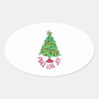 Peace Love Joy Oval Sticker