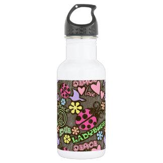 Peace, Love, Ladybugs 532 Ml Water Bottle