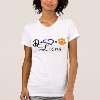 Peace + Love = Lehman Lions T-Shirt