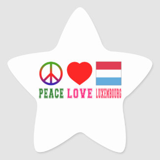 Peace Love Luxembourg Star Sticker