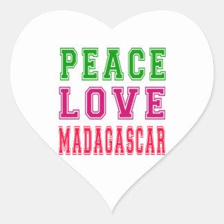 Peace Love Madagascar. Stickers