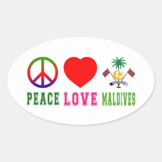 Peace Love Maldives Sticker