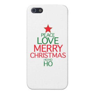 Peace Love Merry Christmas (ho ho ho) iPhone 5 Cases