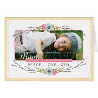 Peace & Love Mother's Day Card