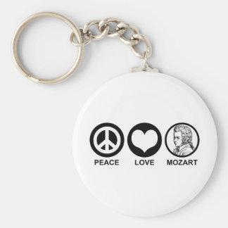 Peace Love Mozart Key Ring