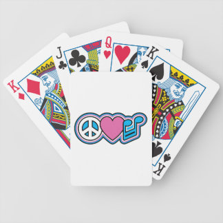 PEACE LOVE MUSIC BICYCLE PLAYING CARDS