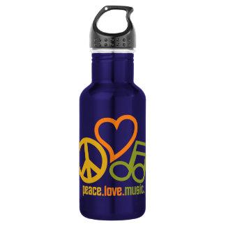 Peace-Love-Music - choose color 532 Ml Water Bottle