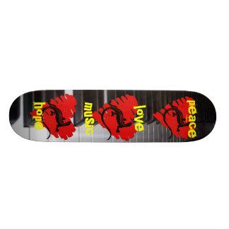 Peace Love Music Hope Skate Board Deck
