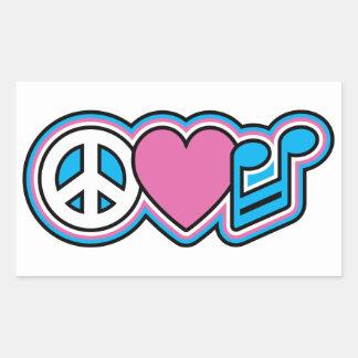 PEACE LOVE MUSIC Symbols Stickers