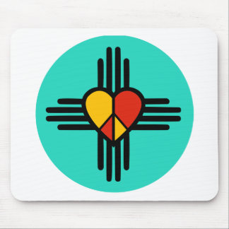 Peace Love New Mexico Mouse Pad