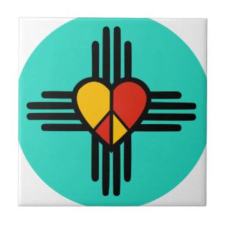 Peace Love New Mexico Tile