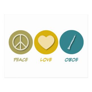 Peace Love Oboe Postcard