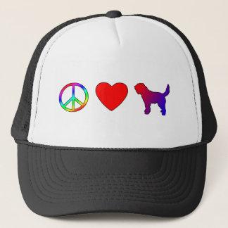 Peace Love Otterhounds Trucker Hat