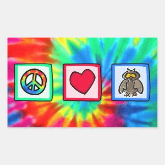 Peace, Love, Owls Sticker
