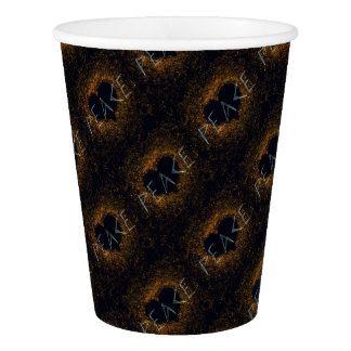 peace-love paper cup