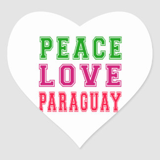 Peace Love Paraguay Stickers