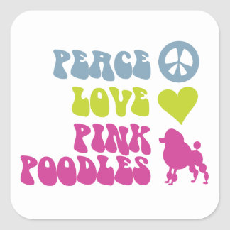 Peace Love Pink Poodles stickers