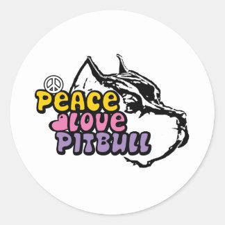 Peace Love Pitbull, Anti BSL Classic Round Sticker