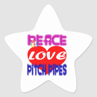 Peace Love Pitch Pipes Sticker