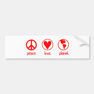 Peace Love Planet - Bumper Sticker