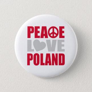 Peace Love Poland 6 Cm Round Badge