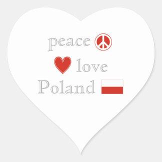 Peace Love Poland Sticker