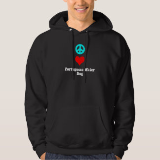 Peace love Portuguese Water Dog Hoodie