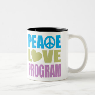 Peace Love Program Two-Tone Coffee Mug
