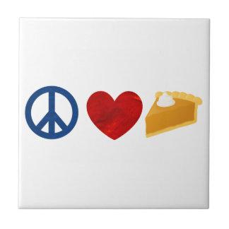 Peace, Love, Pumpkin Pie Ceramic Tiles