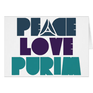 Peace Love Purim Card
