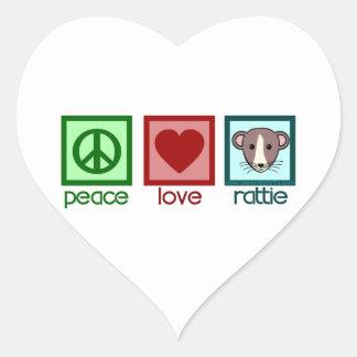 Peace Love Rattie Heart Sticker