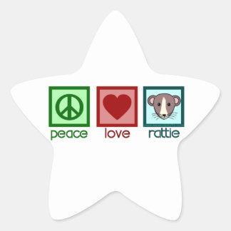 Peace Love Rattie Star Sticker