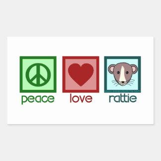 Peace Love Rattie Stickers