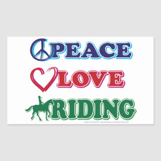 Peace Love Riding Stickers