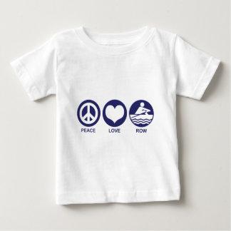 Peace Love Row Baby T-Shirt